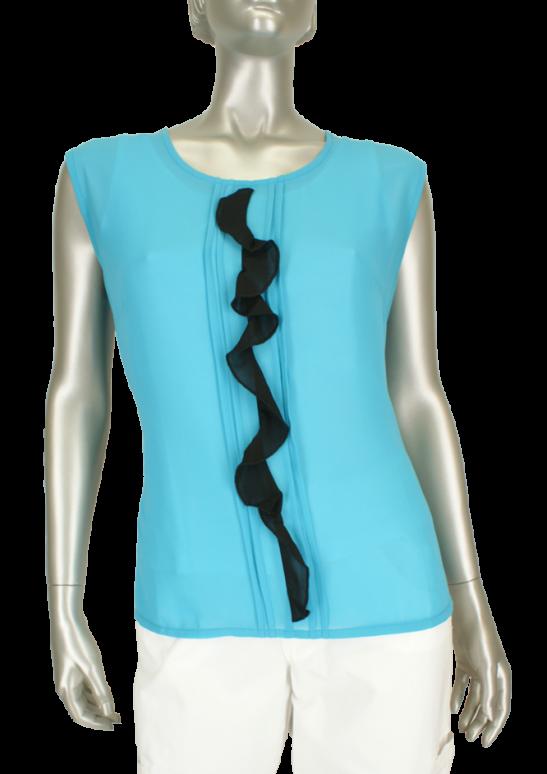 Micha, 0 107 443 85189/Turquoise/Black - Blouse's