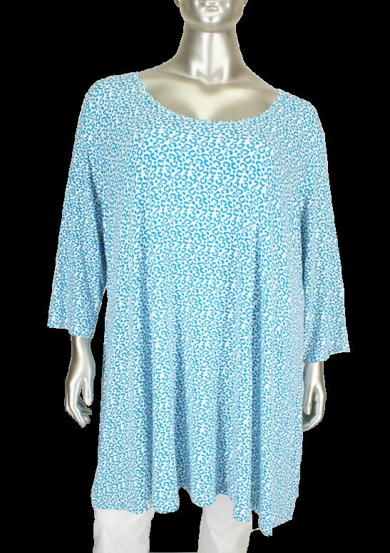 X-Two, Blue Jewel 90363(mouw) Blauw/Wit - Tunieken