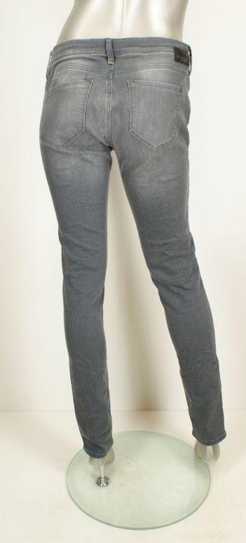 Mavi, Adriana/Brushed grey glam L 32 Grey - Broeken
