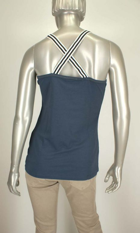 Beau Femme Mode, Silver /OL035 Blue - Tops
