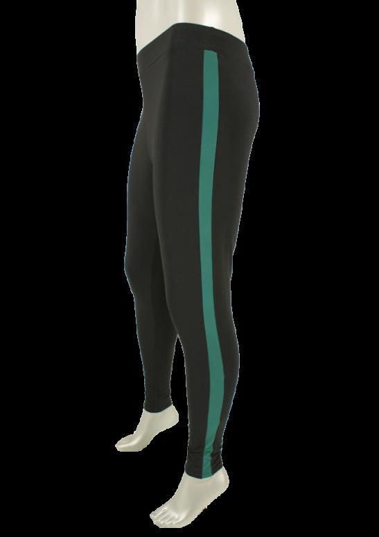 CC Culture, Bertha Legging Stripe Black /Deep green - Broeken