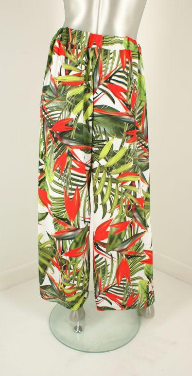 Iz Naiz, 1849 Tropical Wit Groen - Broeken