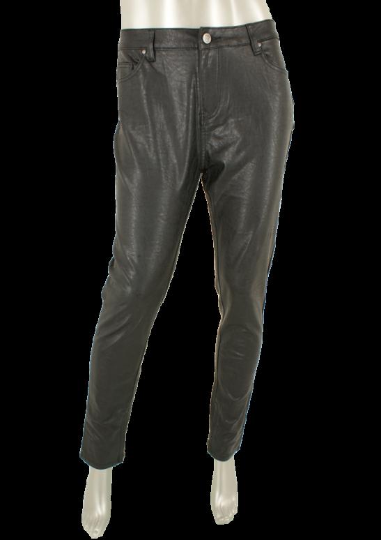 Florez, 1808-4 Charmeur slimfit Leather  Black - Broeken
