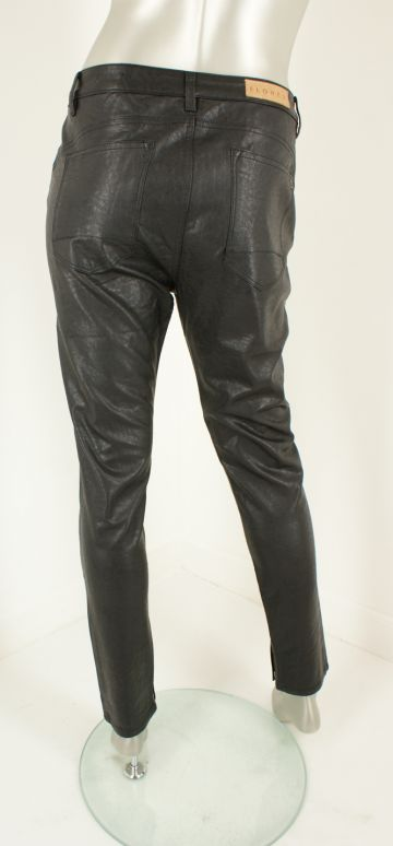 Florez, 1808-4 Charmeur slimfit Leather  Black - Broeken