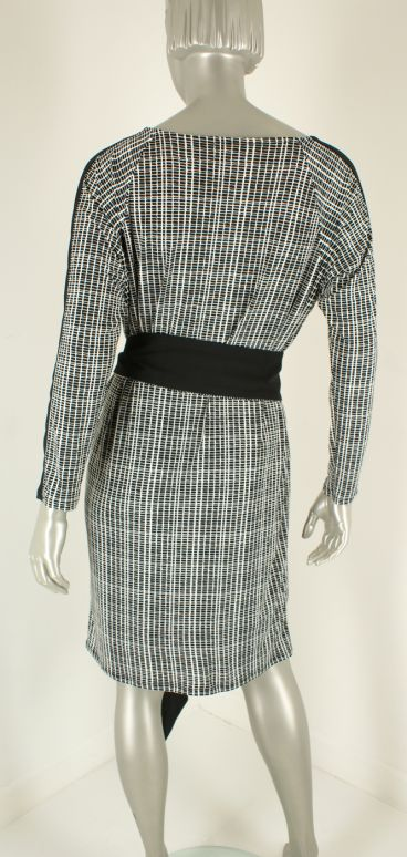 CC Culture, Danielle Stripe Dress Black /White - Jurken