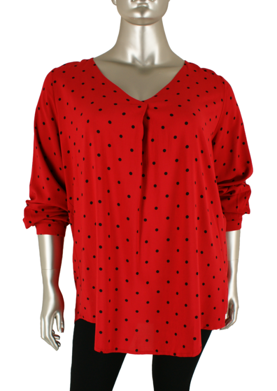 Yesta, A32612 Tango Red/Black - Blouse's