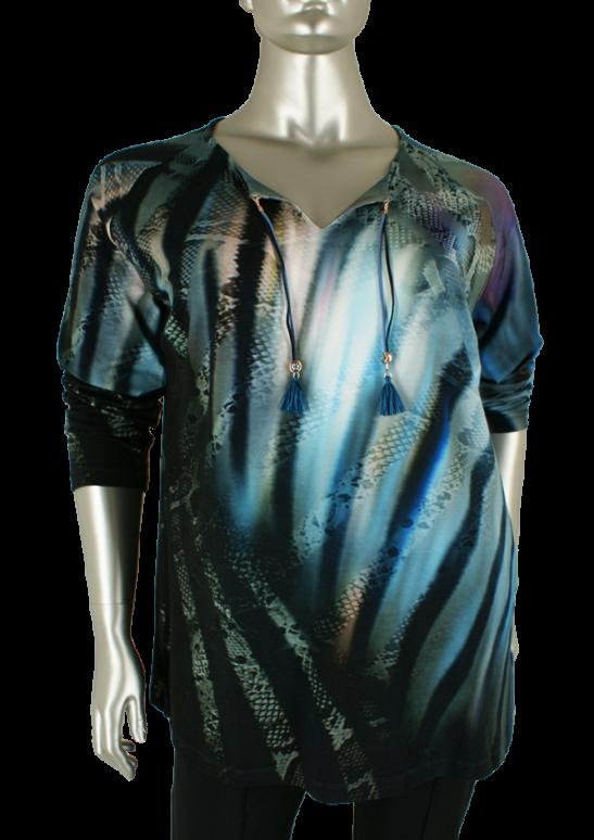 Sempre piu, S8544 024/Ocean - Shirts