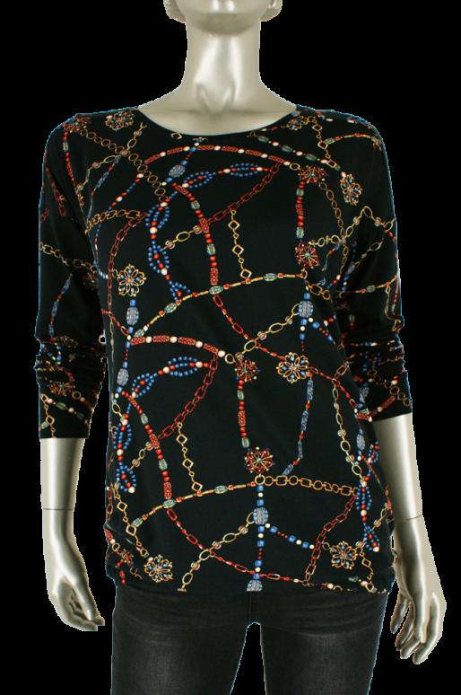 Geisha, 93521-40 000999/Black multi - Shirts