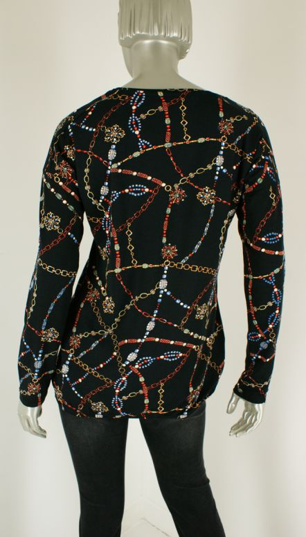 Geisha, 93521-40 000999/Black multi - Shirts