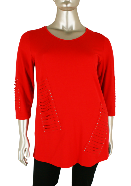 Sempre piu, S8532 050 Sempre Red - Shirts
