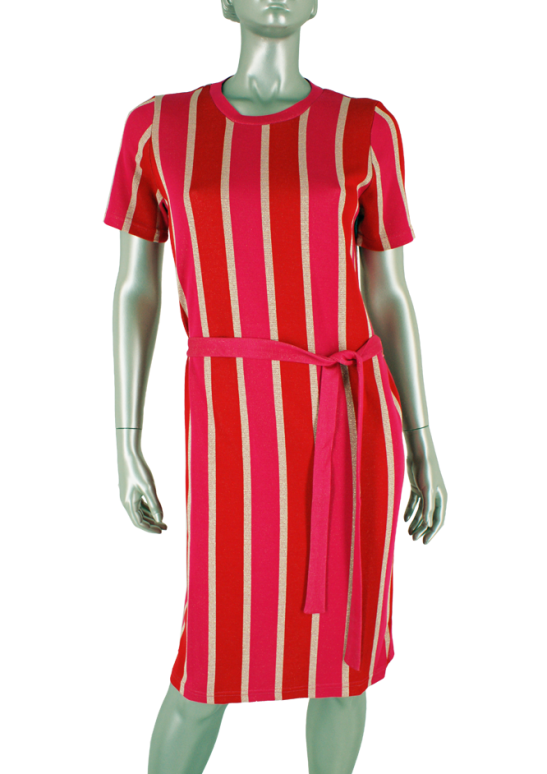 Geisha, 07108-20 000420 Pink/Red combi - Jurken