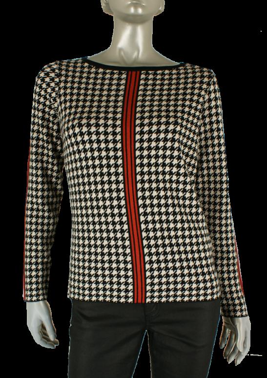 Kenny S., 562114 9073/Zwart Zand Rood combi - Truien/Pullovers