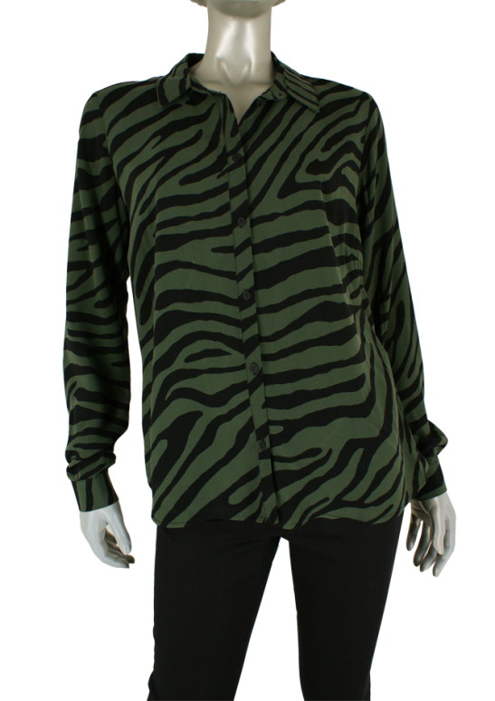 Geisha, 03904-20 000550/Army/Black Combi - Blouse's
