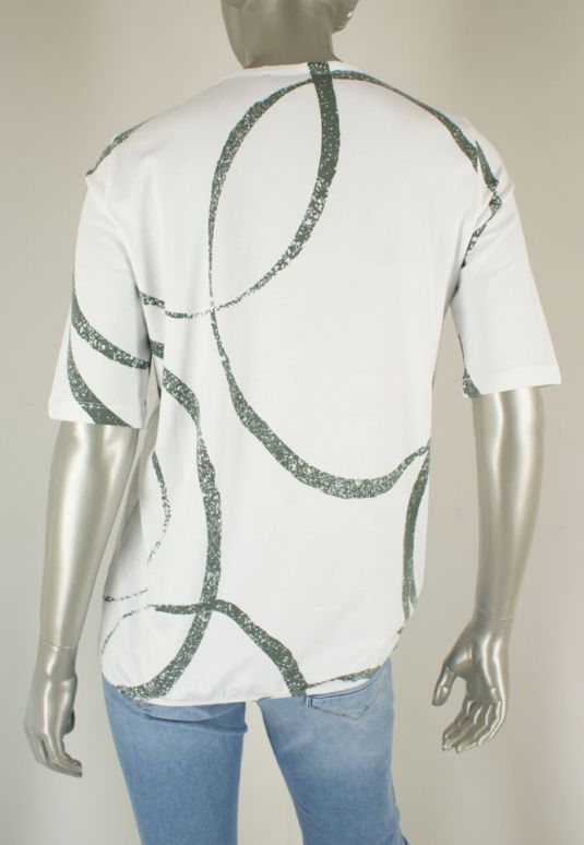 Kenny S., 603744 4536/Wit Groen Combi - Shirts