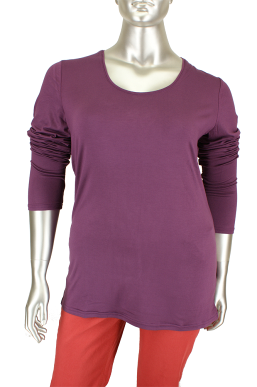 Studio, 250351/Trine long 596/Italian Plum - Shirts