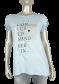 Azuri T-shirt tekst 3003 Lichtblauw