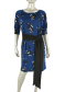 CC Culture Danielle Stripe Dress  Big Flower Navy/ Black