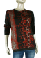Beau Femme Mode 1L434 Flora Snake Red